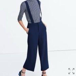 MADEWELL Wide Leg Suspender Pants
